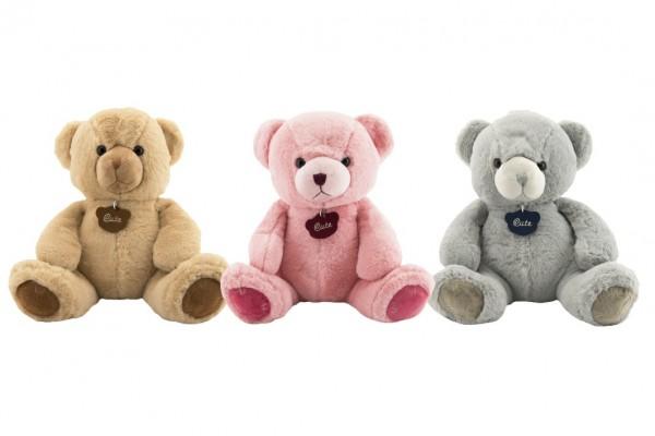 Medvěd plyš 40cm 3 barvy v sáčku 0+