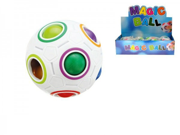 Hlavolam míček plast 7cm v síťce 12ks v boxu