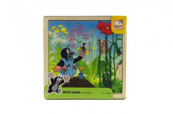 Skládačka Puzzle Krtek a kalhotky dřevo 20ks 18x18cm