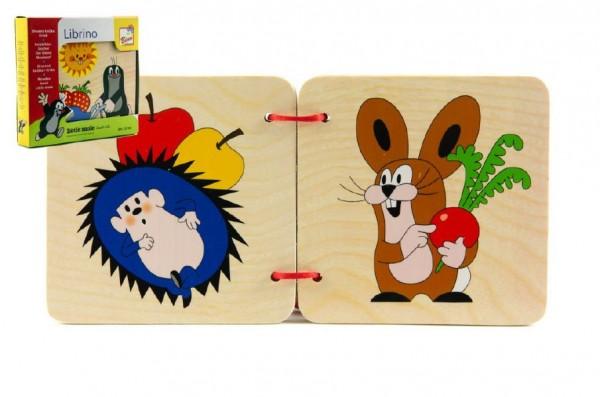 Knížka Krtek dřevo v krabičce 13x12x2cm 10m+