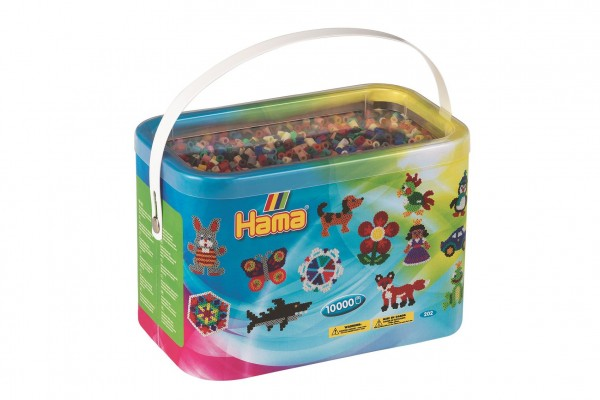 Zažehlovací korálky Hama MIDI 10.000ks v boxu mix 22 barev