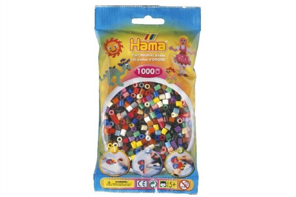 Zažehlovací korálky Hama barevné 1000ks v sáčku