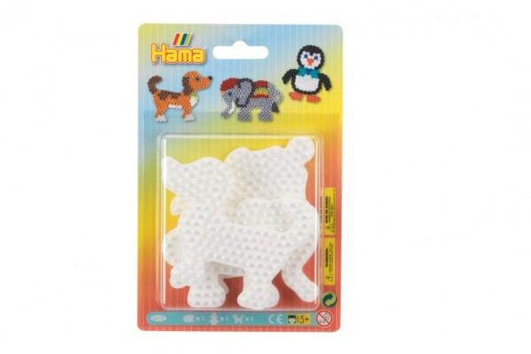 Podložka na zažehlovací korálky slon,tučňák,pejsek plast 3ks na kartě 12x18x3cm