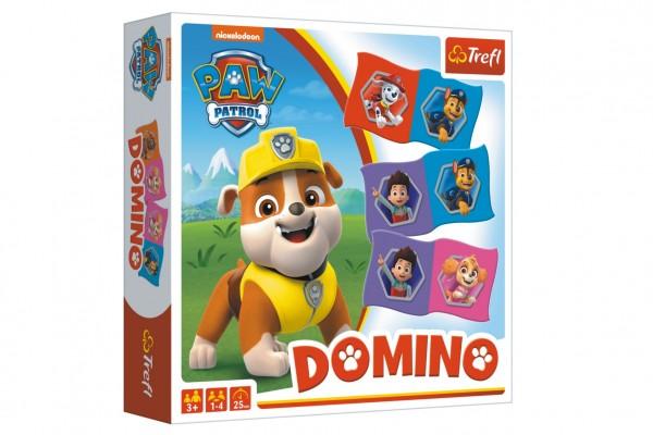 Domino papírové Paw Patrol/Tlapková patrola 28 kartiček společenská hra v krabici 20x20x5cm