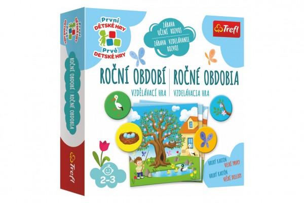 Roční období vzdělávací společenská hra pro nejmenší v krabici 20x20x5cm 24m+