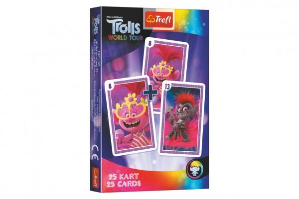 Černý Petr Trolls/Trollové společenská hra - karty v krabičce 6x9x1cm 20ks v boxu