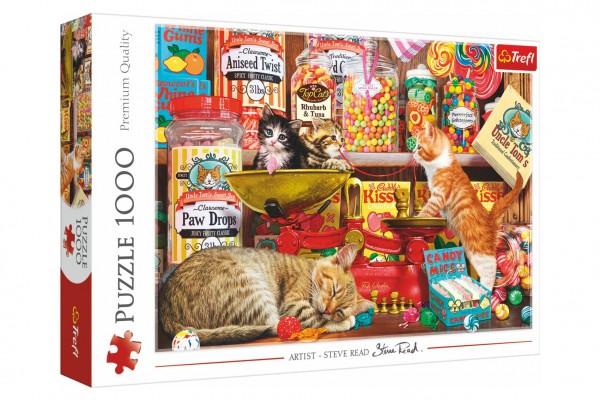 Puzzle Kočičí sladkosti 1000 dílků 68,3x48cm v krabici 40x27x6cm