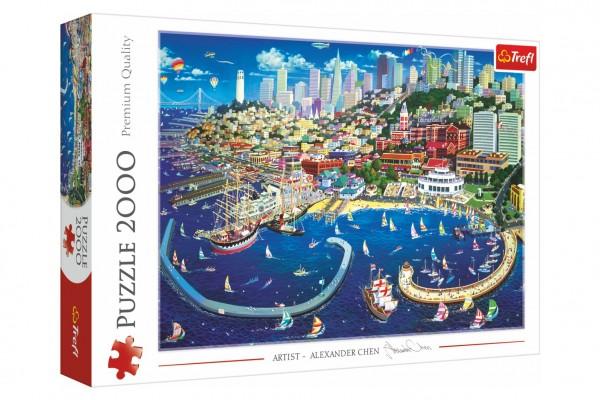 Puzzle Záliv v San Francisku 2000 dílků 96,1x68,2cm v krabici 40x27x6cm