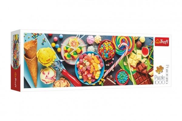 Puzzle panoramatické Sladké potěšení 1000 dílků 97x34cm v krabici 40x13,5x7cm