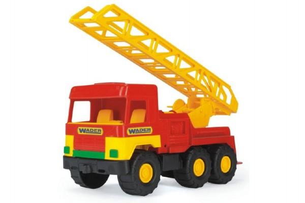 Auto middle Truck hasiči žebřík plast 47cm Wader v sáčku