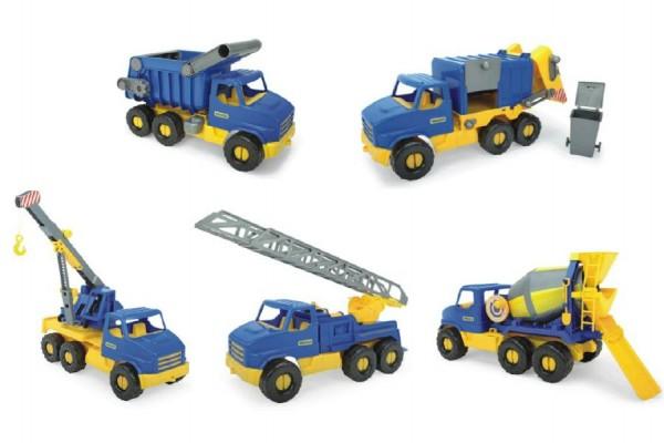 Auto middle Truck plast 42-49cm asst 5 druhů Wader