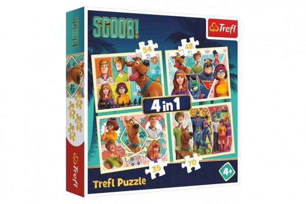 Puzzle 4v1 Scooby Doo/Scoob! Movie 28,5x20,5cm v krabici 28x28x6cm