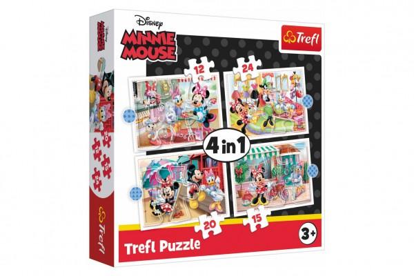 Puzzle 4v1 Minnie s přáteli Disney 28,5x20,5cm v krabici 28x28x6cm