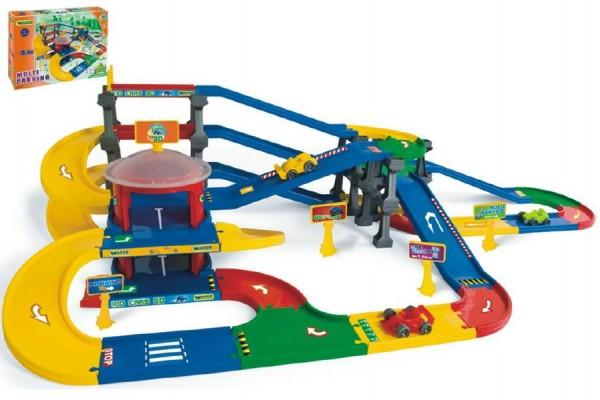 Garáž Kid cars 3D multi parkování 9,1 m v krabici 79x54x14cm Wader