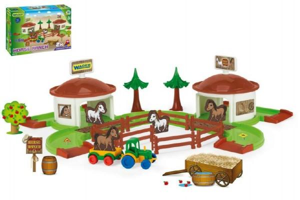 Kid Cars 3D - Koňský ranč s doplňky v krabici Wader