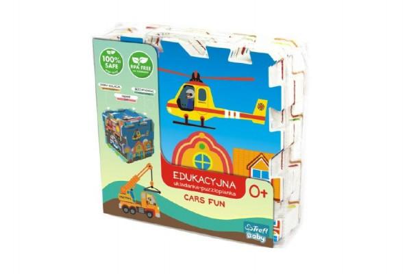 Pěnové puzzle Dopravní Prostředky 32x32x1cm 8ks v sáčku