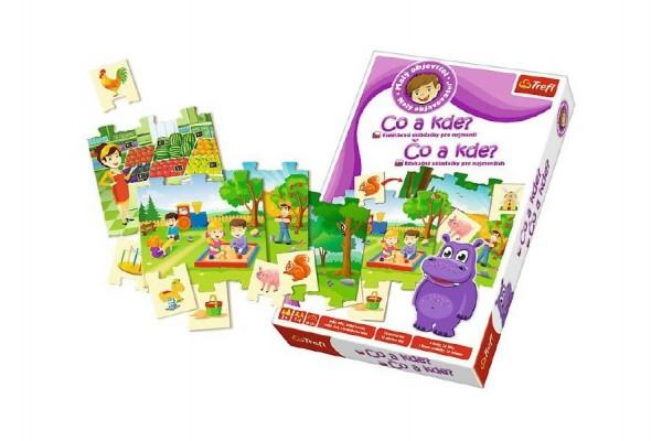 Malý objevitel Co a kde? edukační společenská hra v krabici