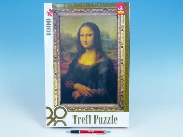 Puzzle Mona Lisa 1000 dílků v krabici 27x40x6cm