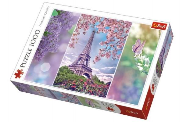 Puzzle Jaro v Paříži 1000 dílků v krabici 27x40x6cm