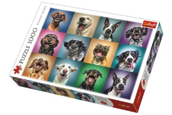 Puzzle Legrační psí portréty 1000 dílků 68,3x48cm v krabici 40x27x6cm
