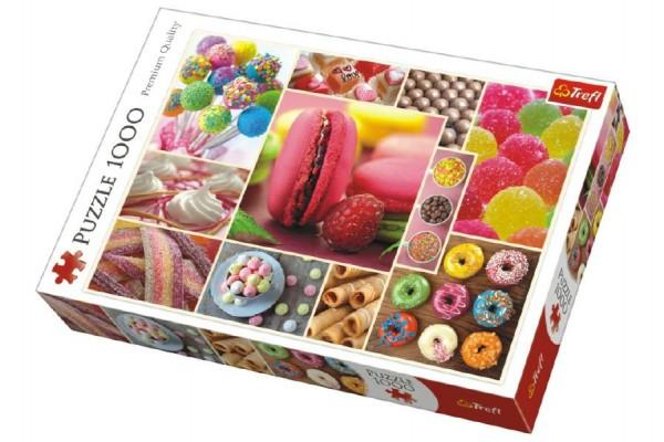 Puzzle koláž Candy cukroví 1000 dílků v krabici 40x27x6cm