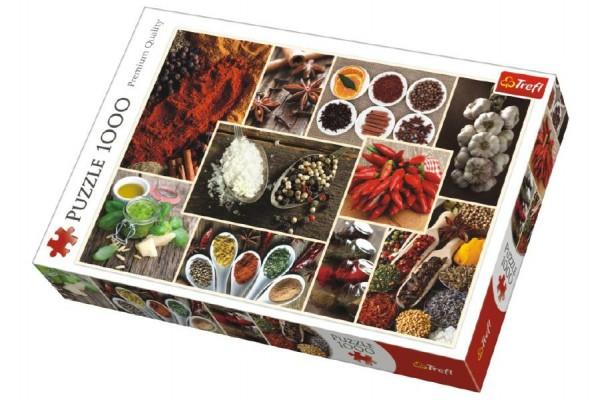Puzzle koláž Koření 1000 dílků v krabici 40x27x6cm