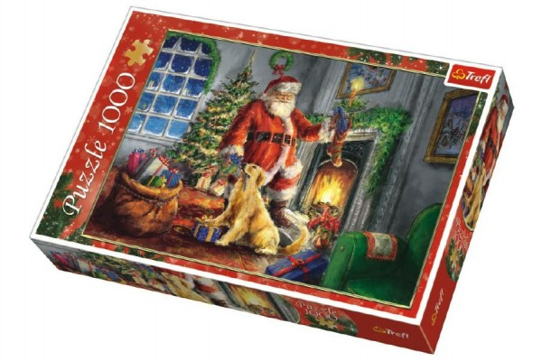 Puzzle koláž Vánoce Čas dárků 1000 dílků v krabici 40x27x6cm