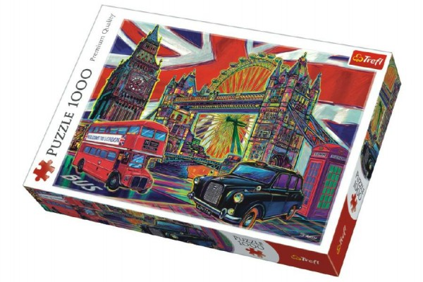 Puzzle Barvy Londýna 1000 dílků 68x48cm v krabici 40x27x6cm