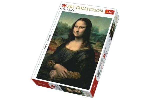 Puzzle Mona Lisa 1000 dílků 48x68cm v krabici 40x27x6cm