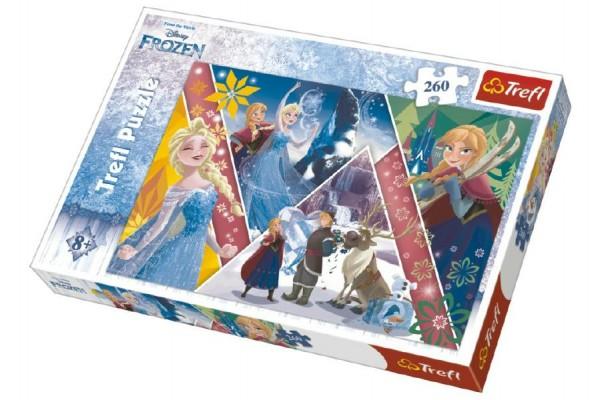 Puzzle Frozen/Ledové království koláž 260 dílků 60x40cm v krabici 40x27x4cm