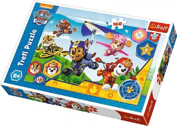 Puzzle Paw Patrol/Tlapková Patrola 41x27,5cm 160 dílků v krabici 29x19x4cm