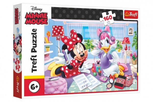 Puzzle Disney Minnie/Den s nejlepšími přáteli 160 dílků 41x27,5cm v krabici 29x19x4cm