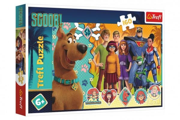 Puzzle Scooby Doo v akci 41x27,5cm 160 dílků v krabici 29x19x4cm