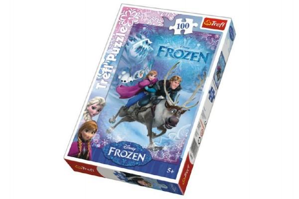 Puzzle Frozen/Ledové království  100 dílků 27,5x41cm v krabici 20x29x4cm