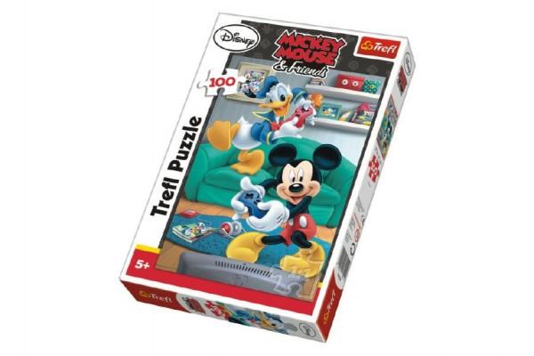 Puzzle Mickey a Donald Disney 100 dílků 27,5x41cm v krabici 20x29x4cm