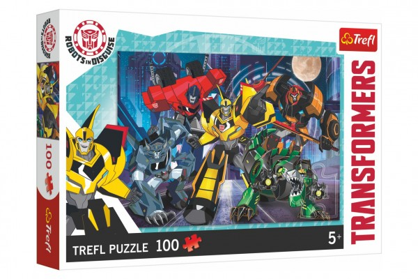 Puzzle Tým Autobotů/Transformers Robots in Disguise 100 dílků  41x27,5cm v krabici 29x19x4cm