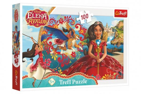 Puzzle Kouzlo Avaloru/Disney Elena of Avalor 100 dílků 41x27,5cm v krabici 29x19x4cm