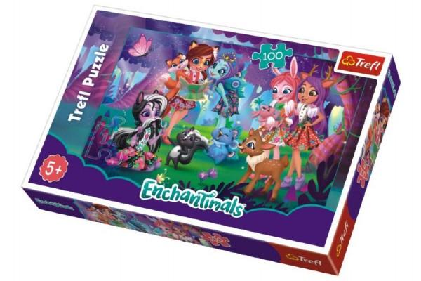 Puzzle Enchantimals 100 dílků 41x27,5cm v krabici 29x20x4cm
