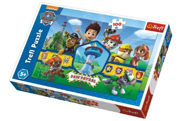 Puzzle Paw Patrol/Tlapková patrola 100 dílků 41x27,5cm v krabici 29x20x4cm
