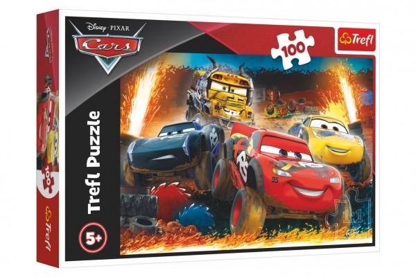 Puzzle Disney Cars 3/Extrémní závod 100 dílků 41x27,5cm v krabici 29x19x4cm