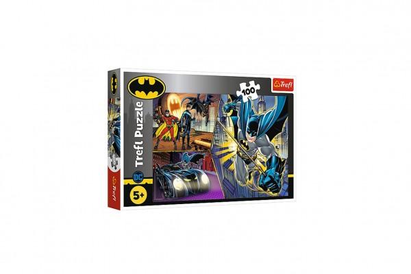 Puzzle Nebojácný Batman 100 dílků 41x27,5cm v krabici 29x19x4cm