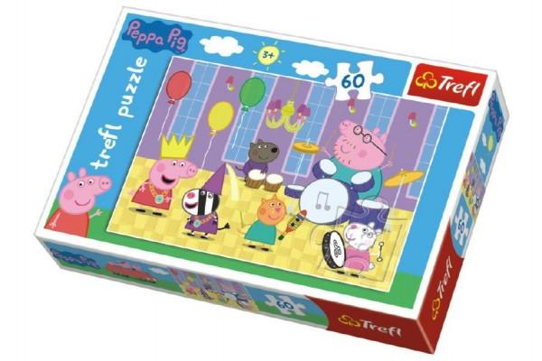 Puzzle Prasátko Peppa na plese 33x22cm 60 dílků v krabici 21x14x4cm