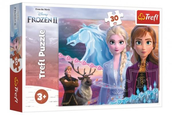 Puzzle Ledové království II/Frozen II 30 dílků 27x20cm v krabici 21x14x4cm