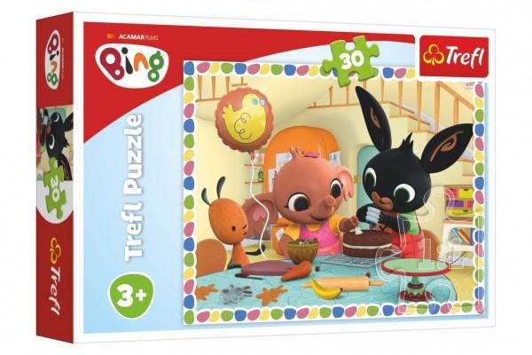 Puzzle Bing Bunny Pojďme spolu péct 27x20cm 30 dílků v krabičce 21x14x4cm