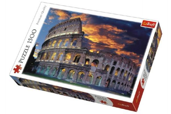 Puzzle Coloseum v Římě 1500 dílků 85x58cm v krabici 40x26x6cm