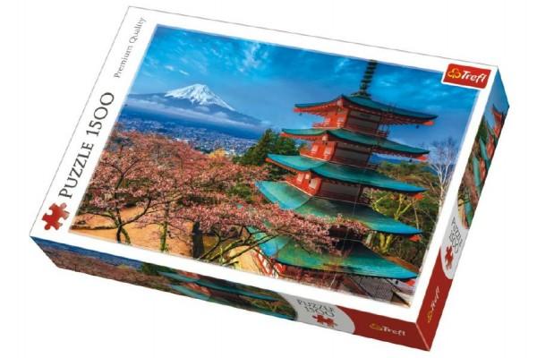 Puzzle Hora Fuji 1500 dílků 85x58cm v krabici 40x26x6cm