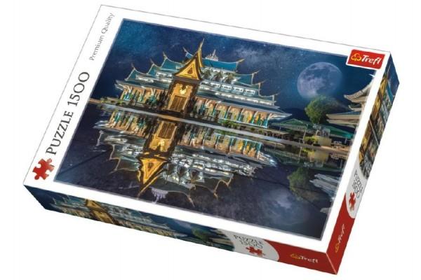 Puzzle Wat Pa Phu Kon, Thajsko 1500 dílků 85x58cm v krabici 40x26x6cm