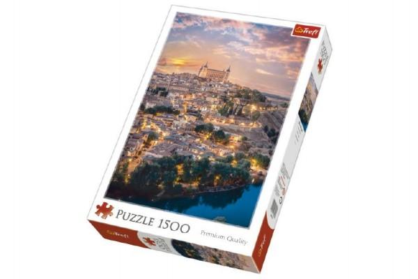 Puzzle Toledo, Španělsko 1500 dílků 58x85cm v krabici 26x40x6cm