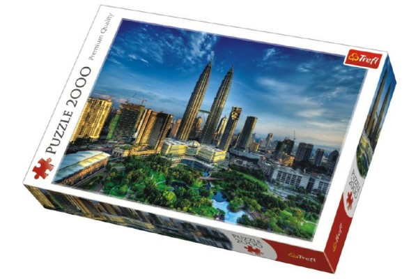 Puzzle Petronas Twin Towers, Kuala Lumpur Malajsie 2000 dílků 96x68cm v krabici 40x27x6cm