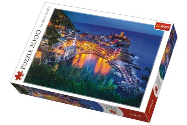 Puzzle Vernazza za soumraku Itálie 2000 dílků 96x68cm v krabici 40x27x6cm
